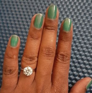 3ct cz solitaire ring